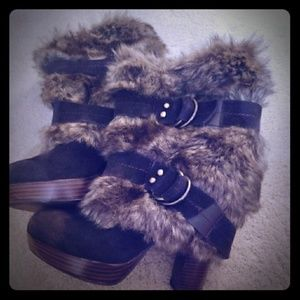 Naughty Monkey Faux Fur Pull-On Boots